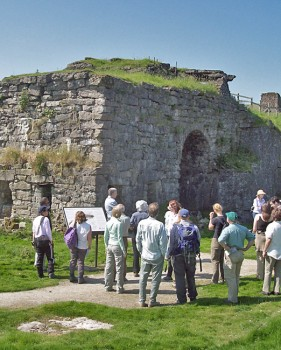 Visitors at Greenhow lead mine, N. Yorkshire (permission: N. Yorkshire County Council)