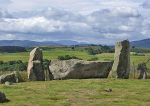 Recumbent stone circle at Tomnaverie, Aberdeenshire (permission: Caroline Ingle)